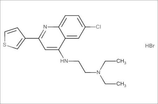 N'-(6-Chloro-2-(thiophen-3-yl)quinolin-4-yl)-N,N-diethylethane-1,2-diamine hydrobromide