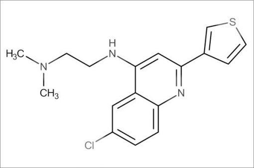 N'-(6-Chloro-2-(thiophen-3-yl)quinolin-4-yl)-N,N-dimethylethane-1,2-diamine