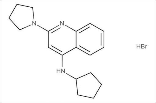 N-Cyclopentyl-2-(pyrrolidin-1-yl)quinolin-4-amine hydrobromide
