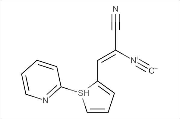 (Z)-2-Isocyano-3-(5-(pyridin-2-ylthio)furan-2-yl)acrylonitrile