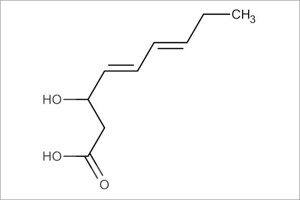 trans,trans-3-Hydroxynona-4,6-dienoic acid, min.